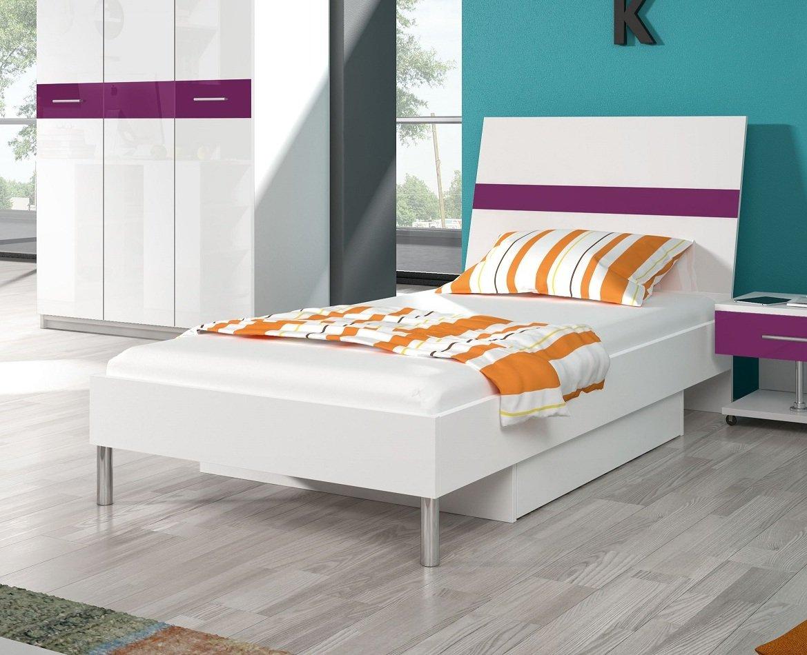 Nowoczesne Młodzieżowe łóżko Raj Połysk Kolory